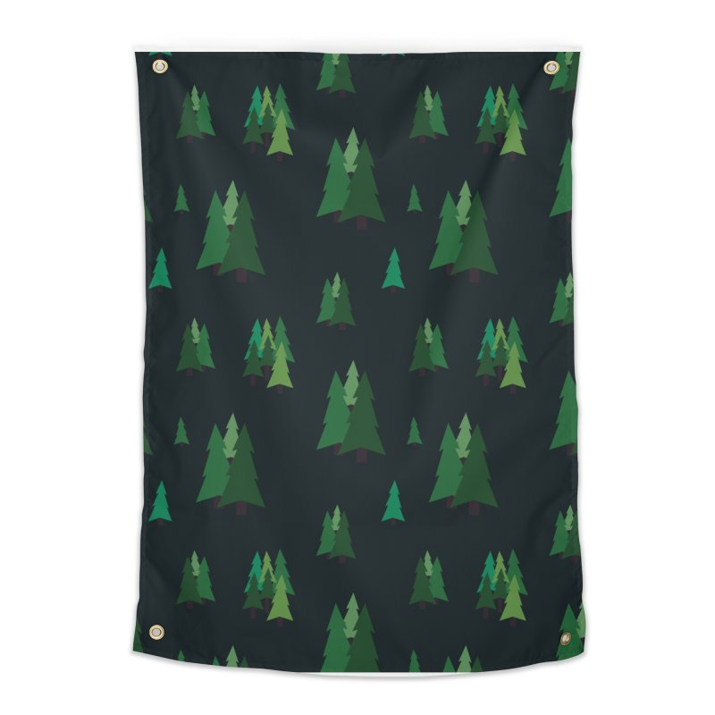 Pine Trees Home Tapestry by Svaeth's Artist Shop