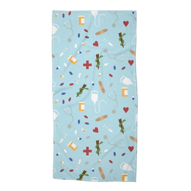 Hospital Accessories Beach Towel by Svaeth's Artist Shop