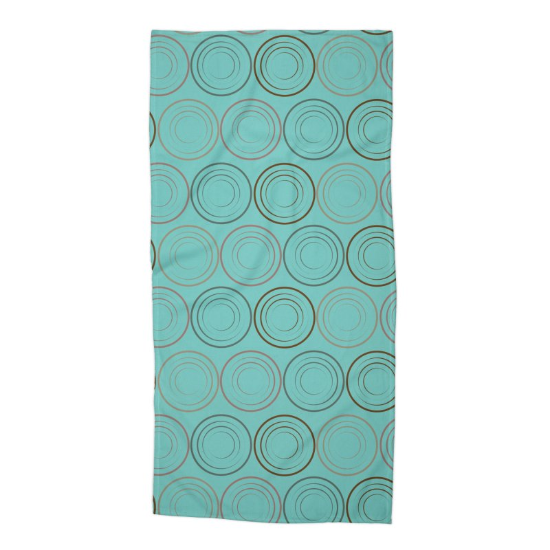 Circles Accessories Beach Towel by Svaeth's Artist Shop