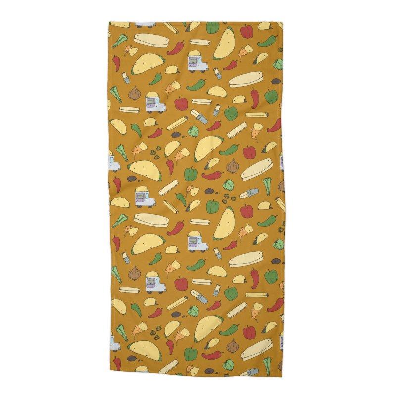 Tacos & Burritos Accessories Beach Towel by Svaeth's Artist Shop