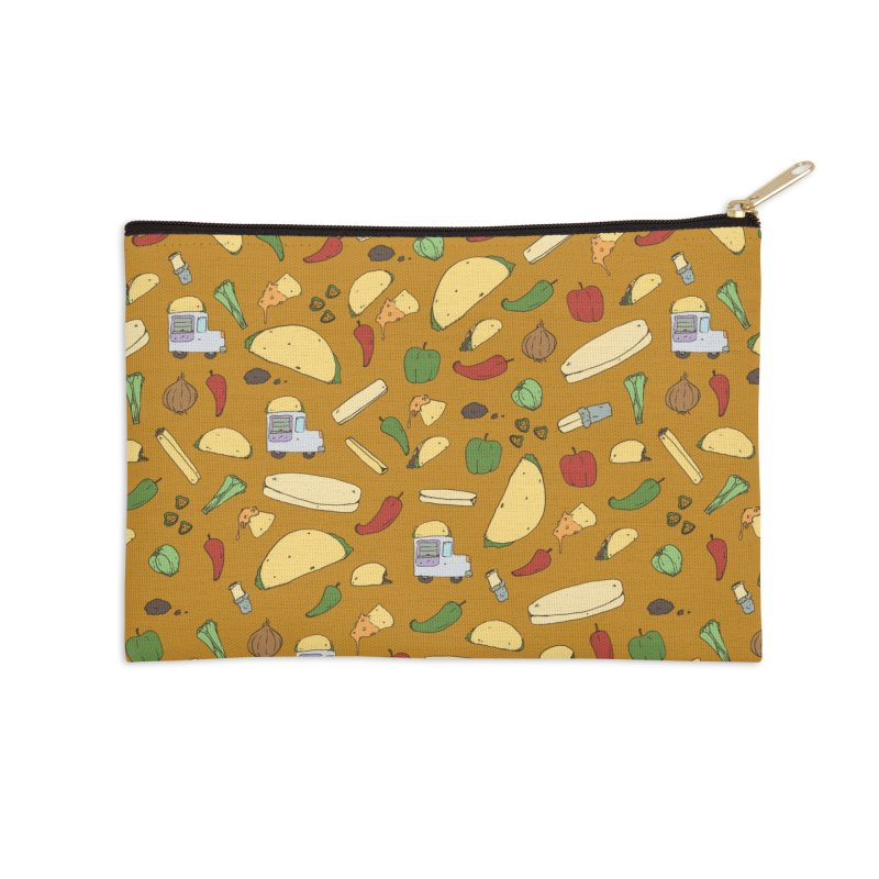 Tacos & Burritos Accessories Zip Pouch by Svaeth's Artist Shop