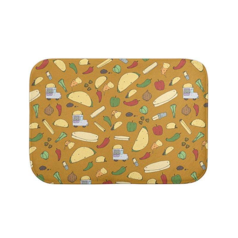 Tacos & Burritos Home Bath Mat by Svaeth's Artist Shop
