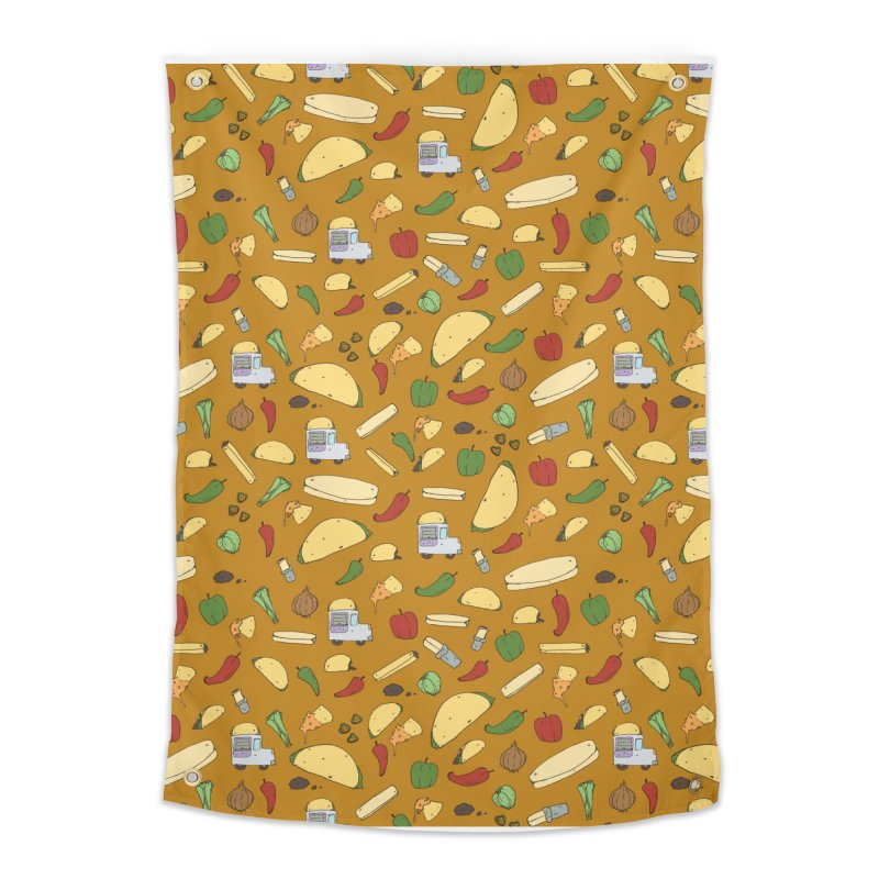 Tacos & Burritos Home Tapestry by Svaeth's Artist Shop