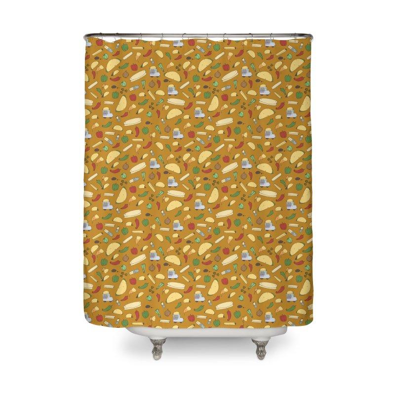 Tacos & Burritos Home Shower Curtain by Svaeth's Artist Shop
