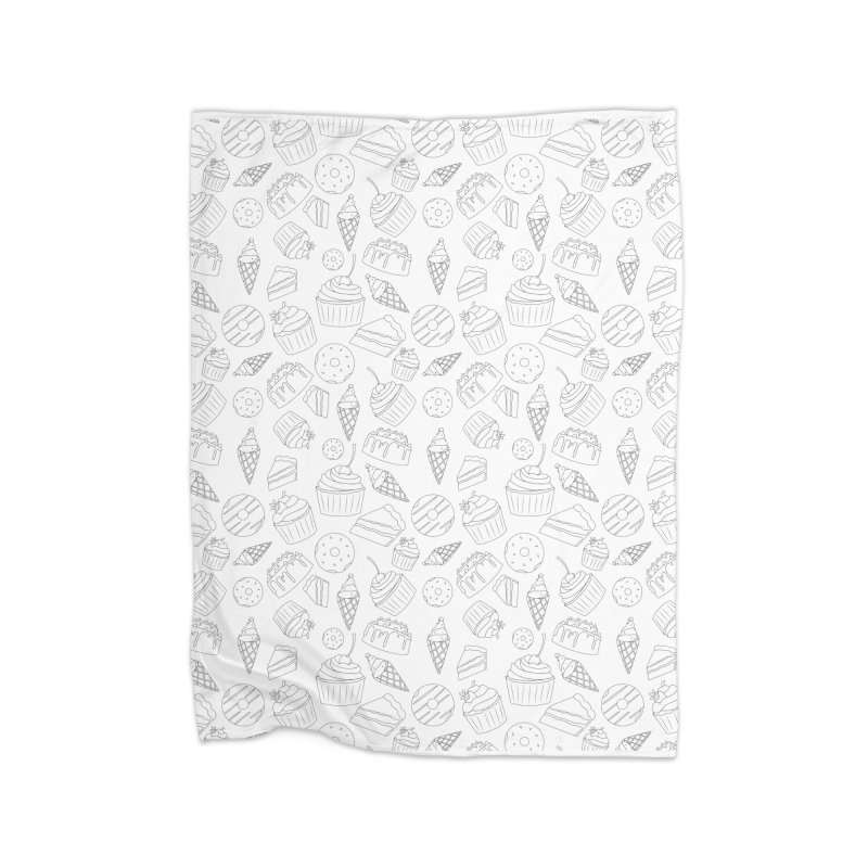 Sweets & Treats - Black & White Home Blanket by Svaeth's Artist Shop