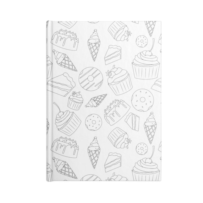 Sweets & Treats - Black & White Accessories Notebook by Svaeth's Artist Shop