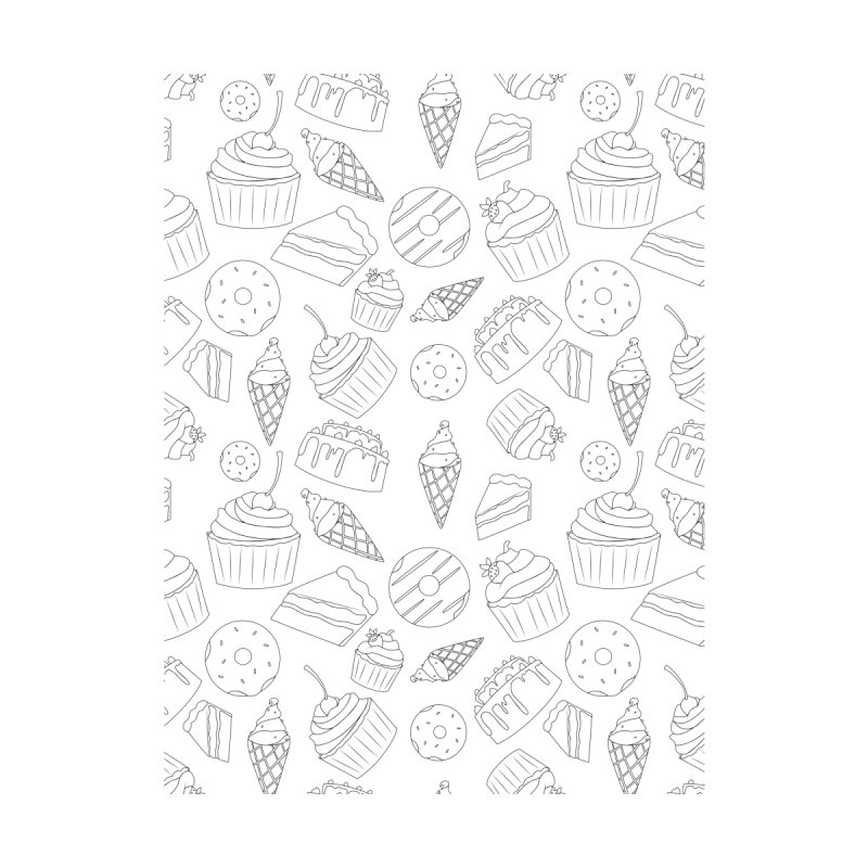 Sweets & Treats - Black & White by Svaeth's Artist Shop