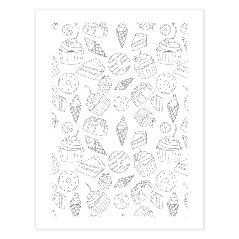 Sweets & Treats - Black & White Home Fine Art Print by Svaeth's Artist Shop