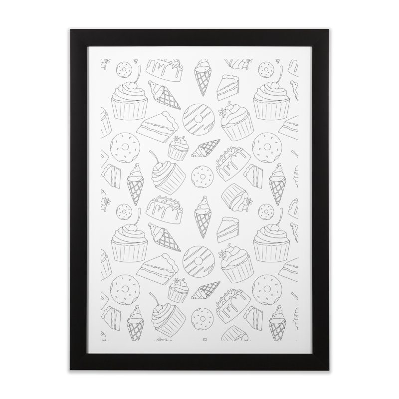 Sweets & Treats - Black & White Home Framed Fine Art Print by Svaeth's Artist Shop