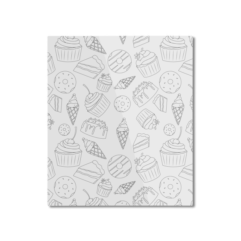 Sweets & Treats - Black & White Home Mounted Aluminum Print by Svaeth's Artist Shop