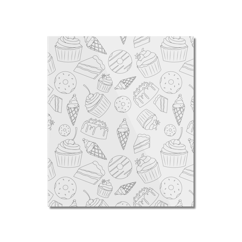 Sweets & Treats - Black & White Home Mounted Acrylic Print by Svaeth's Artist Shop