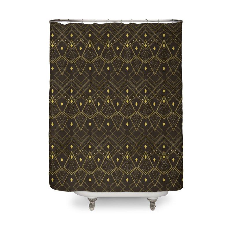 Deco Diamonds Home Shower Curtain by Svaeth's Artist Shop