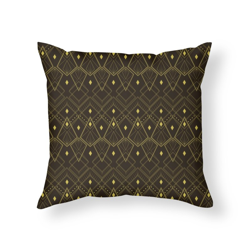 Deco Diamonds Home Throw Pillow by Svaeth's Artist Shop