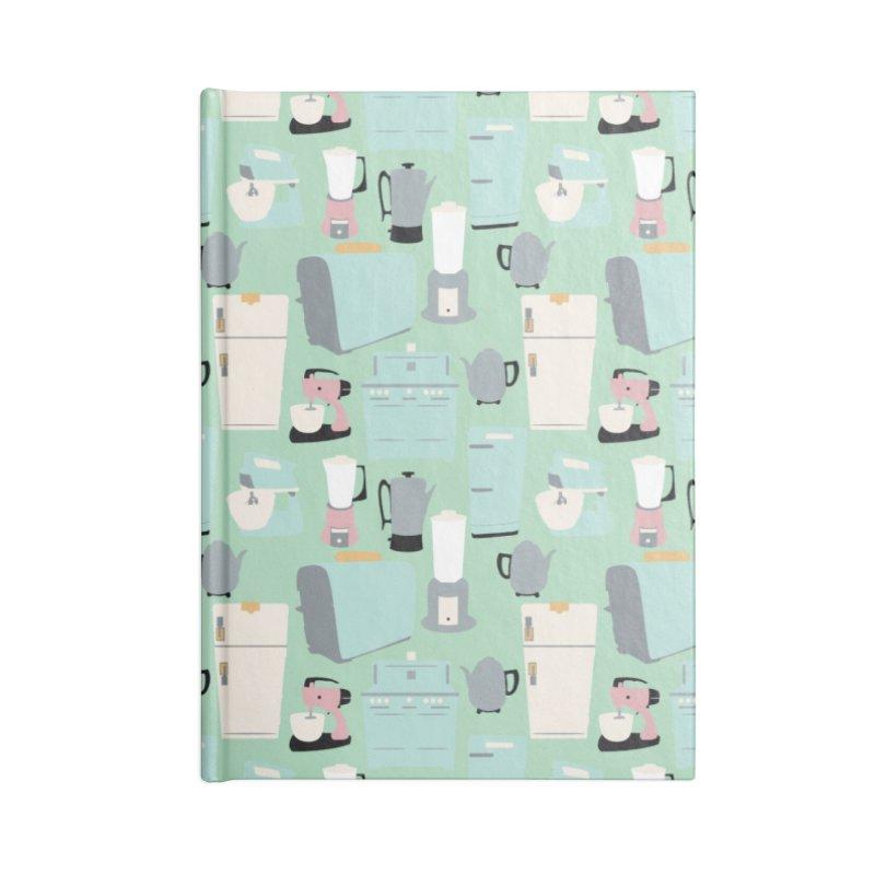 Retro Kitchen Accessories Notebook by Svaeth's Artist Shop