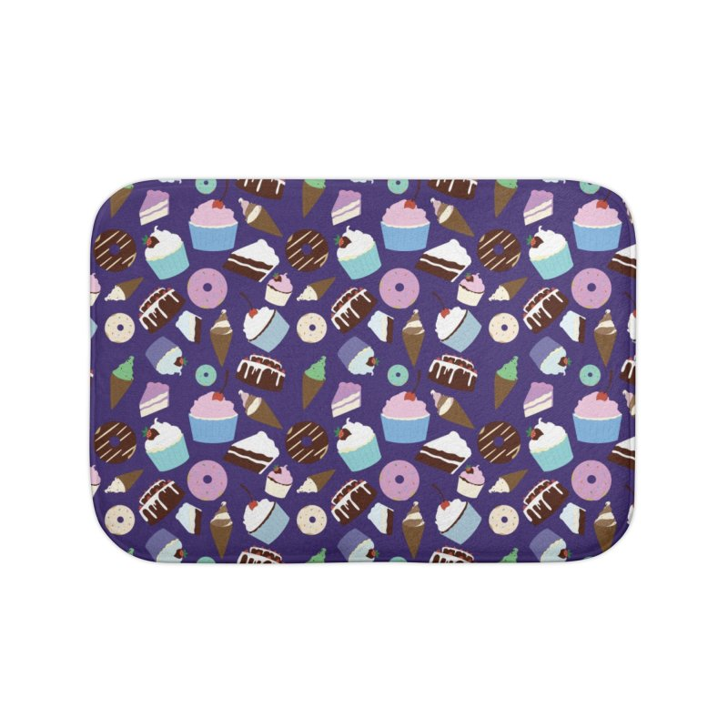 Sweets & Treats - Colored Home Bath Mat by Svaeth's Artist Shop