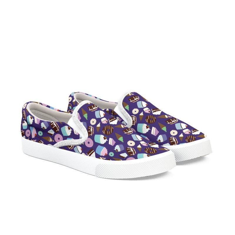 Sweets & Treats - Colored Women's Slip-On Shoes by Svaeth's Artist Shop