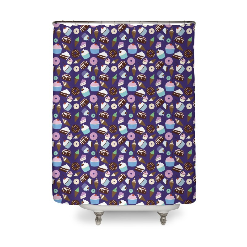 Sweets & Treats - Colored Home Shower Curtain by Svaeth's Artist Shop