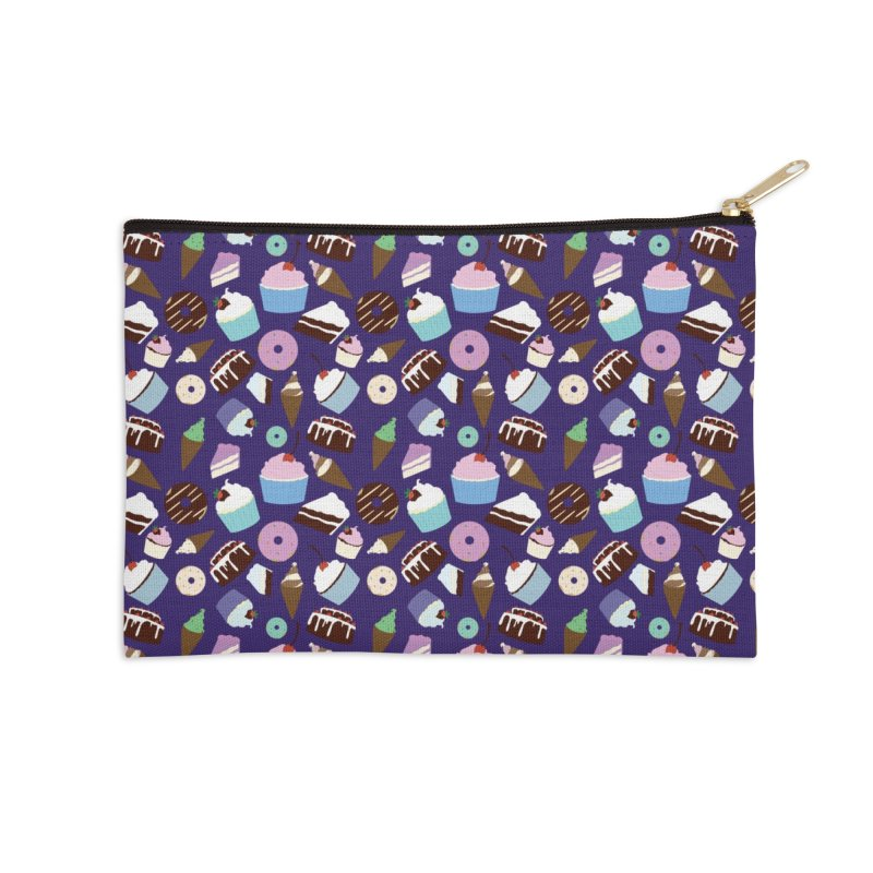 Sweets & Treats - Colored Accessories Zip Pouch by Svaeth's Artist Shop