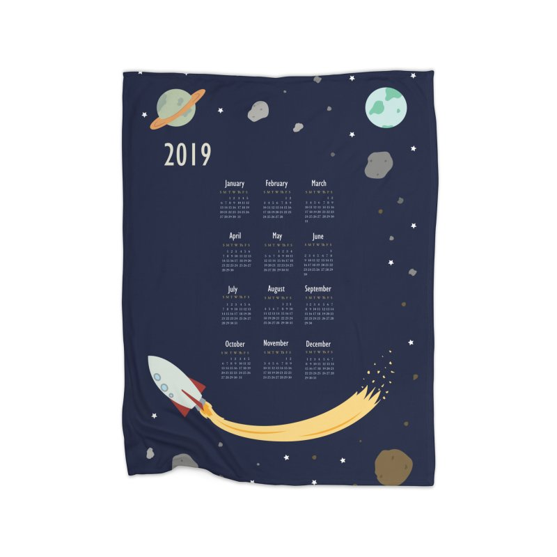 2019 Outer Space Calendar Home Blanket by Svaeth's Artist Shop