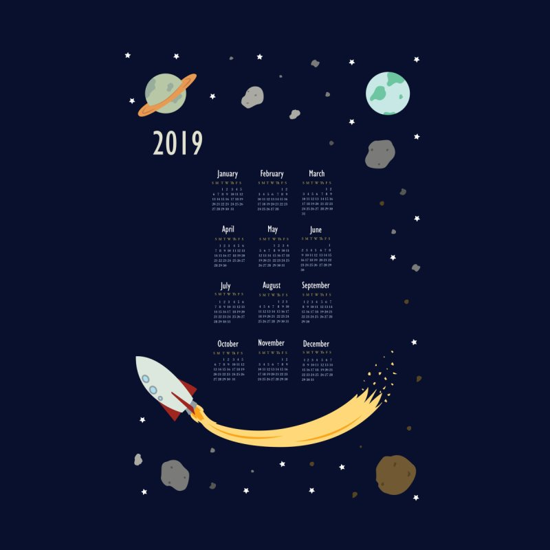 2019 Outer Space Calendar by Svaeth's Artist Shop