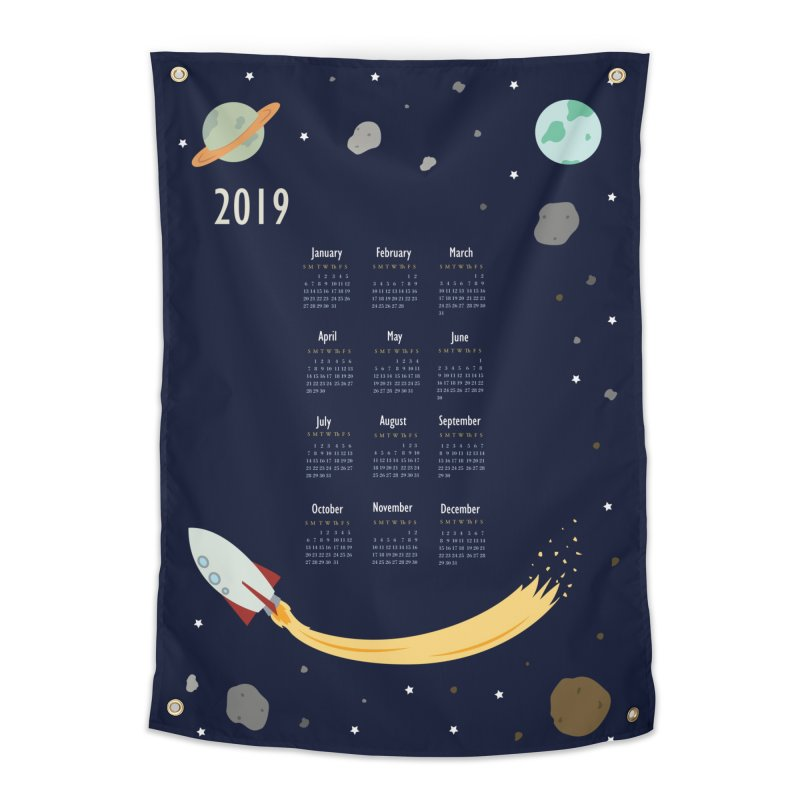 2019 Outer Space Calendar Home Tapestry by Svaeth's Artist Shop
