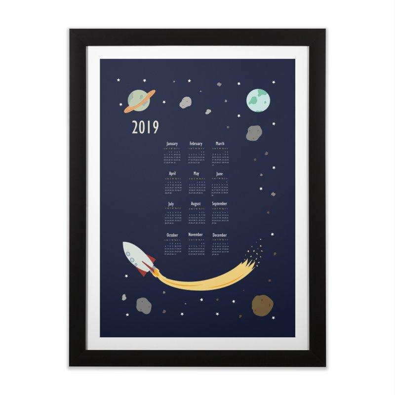 2019 Outer Space Calendar Home Framed Fine Art Print by Svaeth's Artist Shop