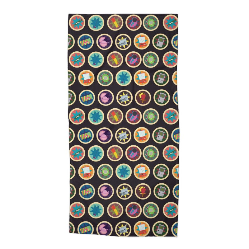 Toys, Games, and Candy Accessories Beach Towel by Svaeth's Artist Shop