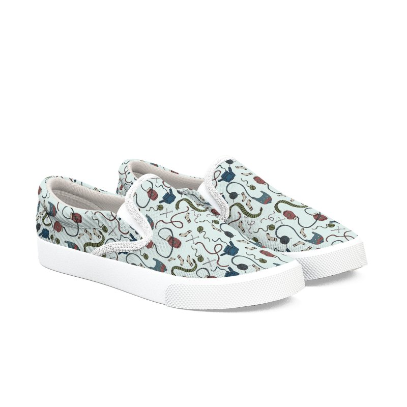 Warm and Cozy Women's Slip-On Shoes by Svaeth's Artist Shop
