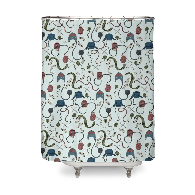 Warm and Cozy Home Shower Curtain by Svaeth's Artist Shop