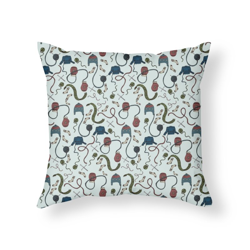 Warm and Cozy Home Throw Pillow by Svaeth's Artist Shop