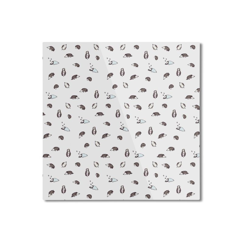 Hedgehogs Home Mounted Aluminum Print by Svaeth's Artist Shop