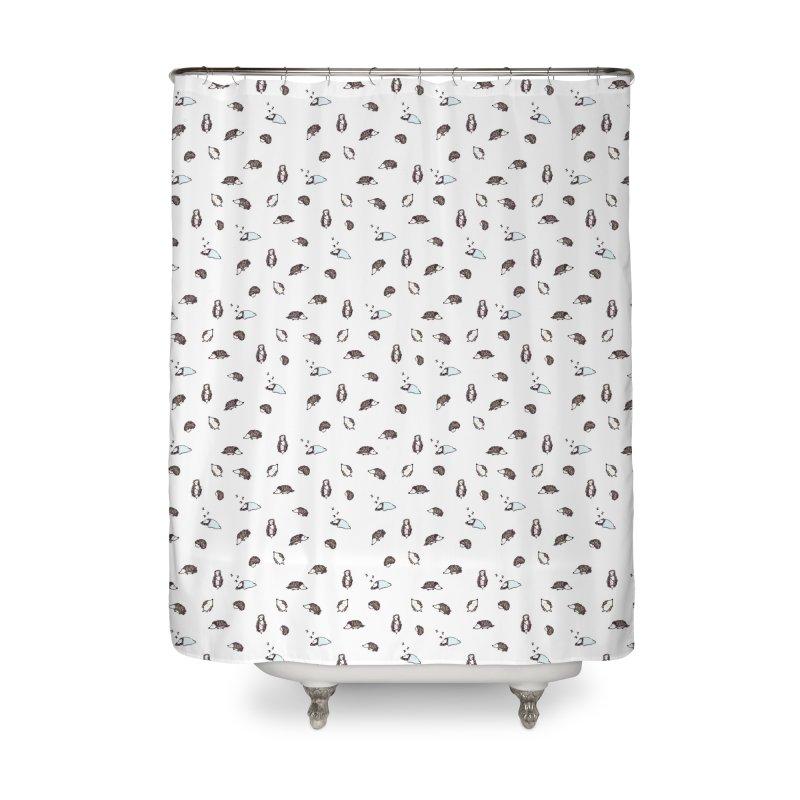 Hedgehogs Home Shower Curtain by Svaeth's Artist Shop