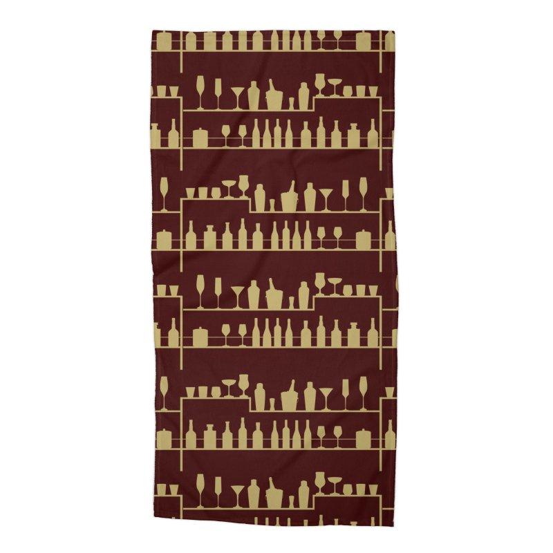 Vintage Bar Accessories Beach Towel by Svaeth's Artist Shop