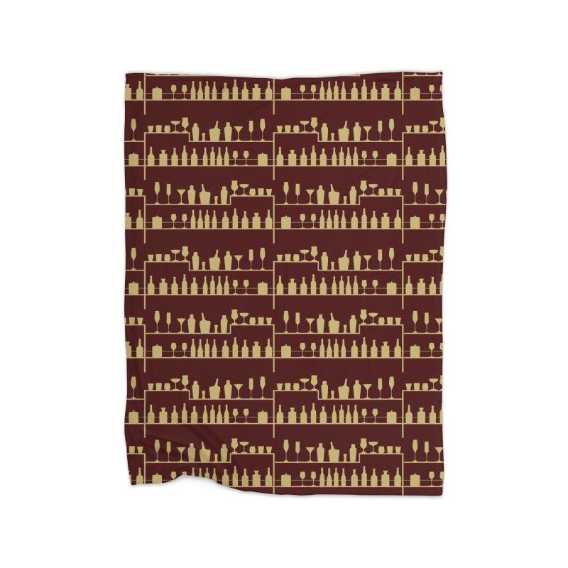 Vintage Bar Home Fleece Blanket Blanket by Svaeth's Artist Shop