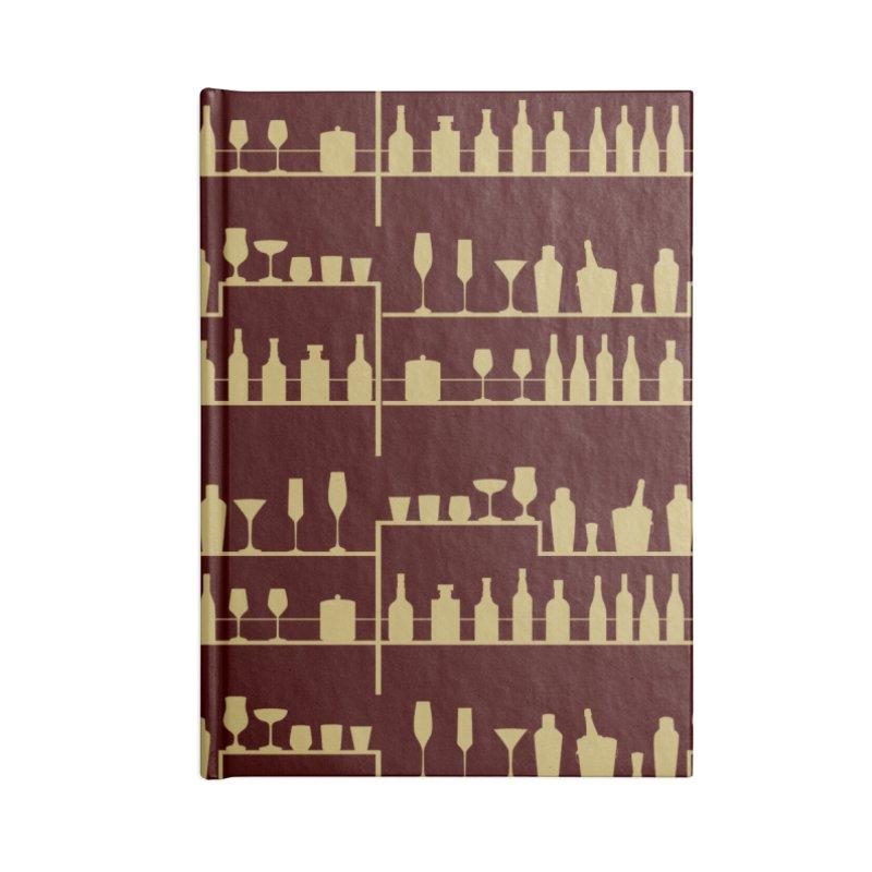 Vintage Bar Accessories Notebook by Svaeth's Artist Shop