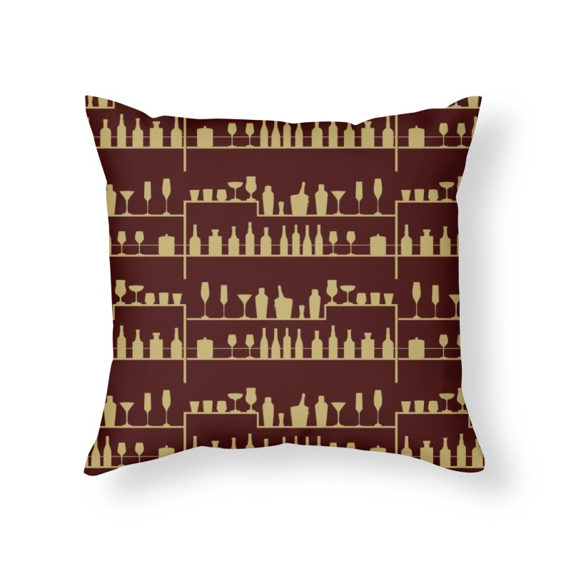 Vintage Bar Home Throw Pillow by Svaeth's Artist Shop