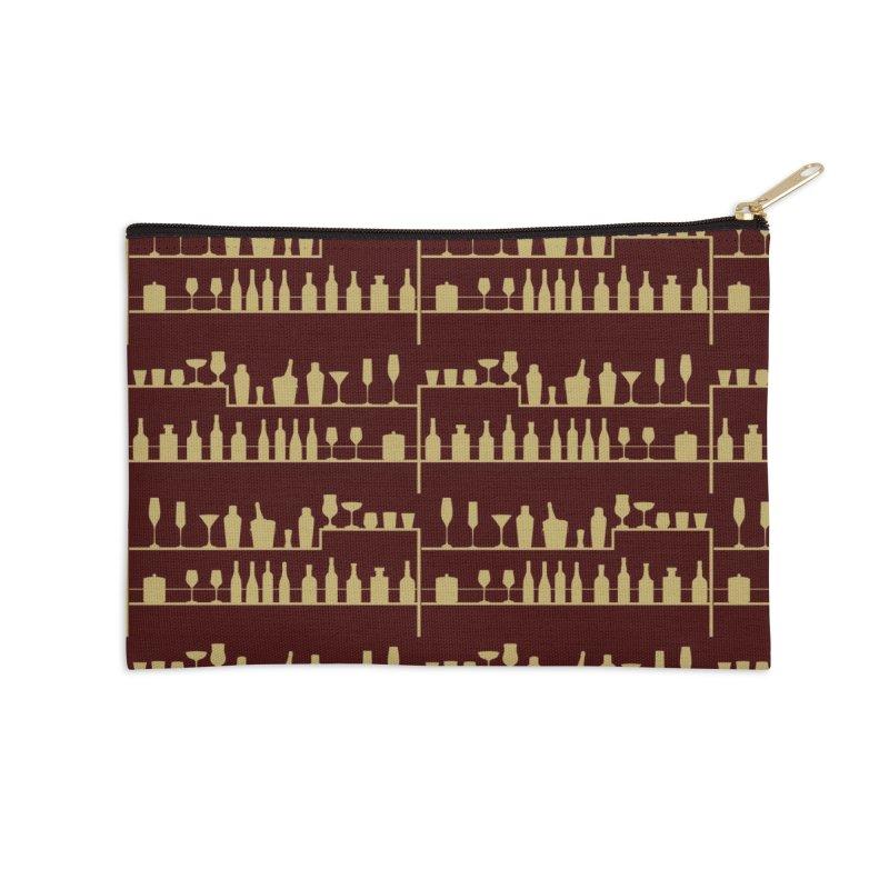 Vintage Bar Accessories Zip Pouch by Svaeth's Artist Shop