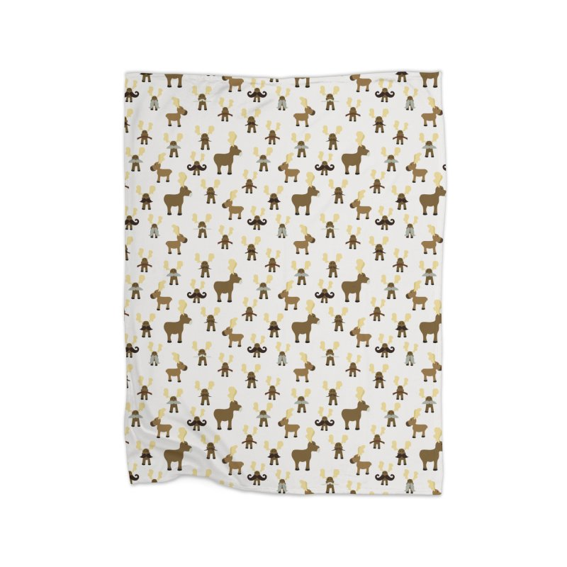Moosestaches Home Blanket by Svaeth's Artist Shop