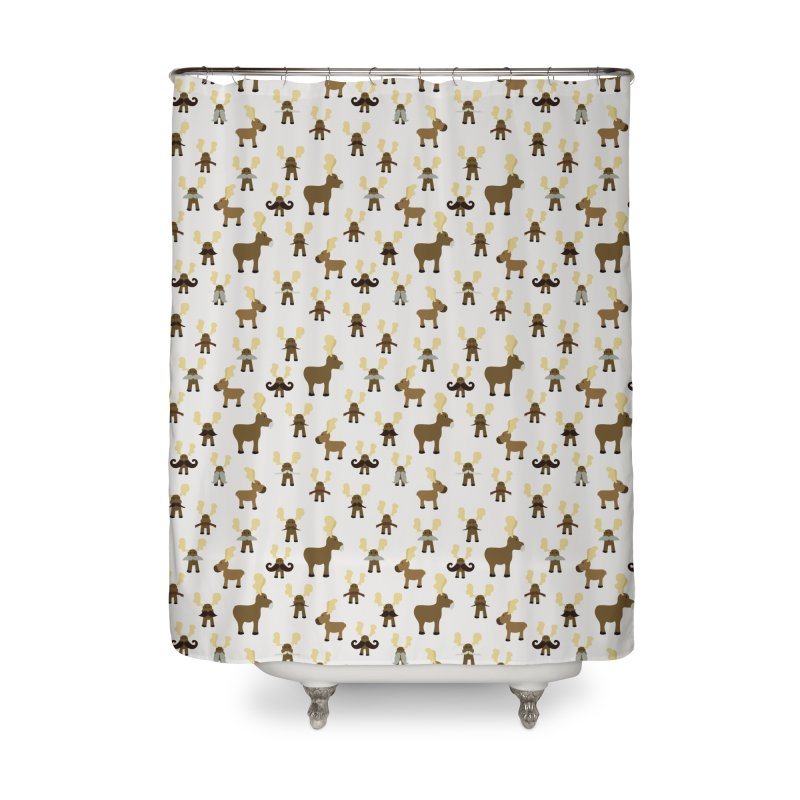 Moosestaches Home Shower Curtain by Svaeth's Artist Shop