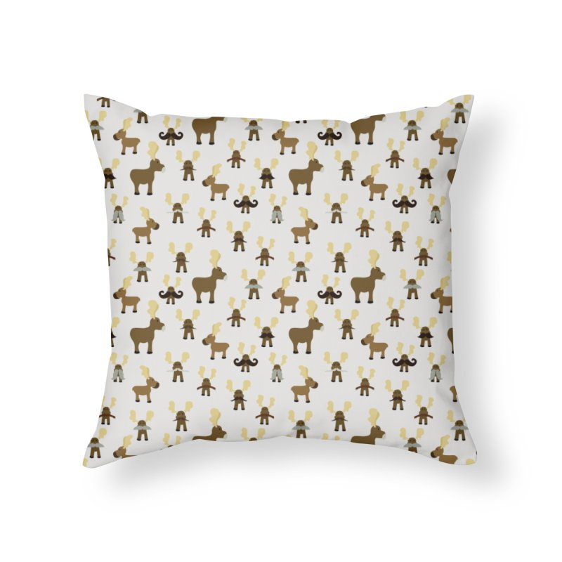 Moosestaches Home Throw Pillow by Svaeth's Artist Shop