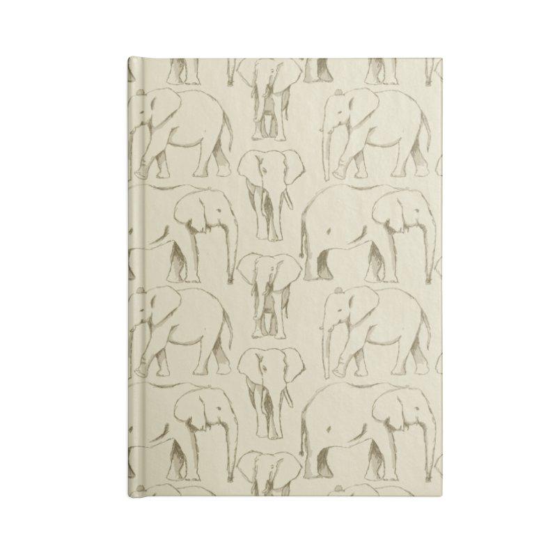 Sketch Book Elephants Accessories Notebook by Svaeth's Artist Shop
