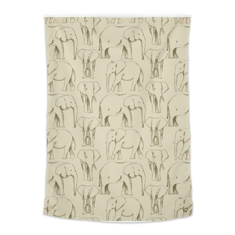 Sketch Book Elephants Home Tapestry by Svaeth's Artist Shop