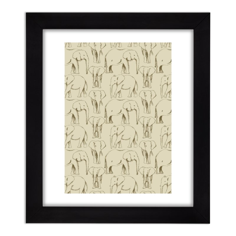 Sketch Book Elephants Home Framed Fine Art Print by Svaeth's Artist Shop