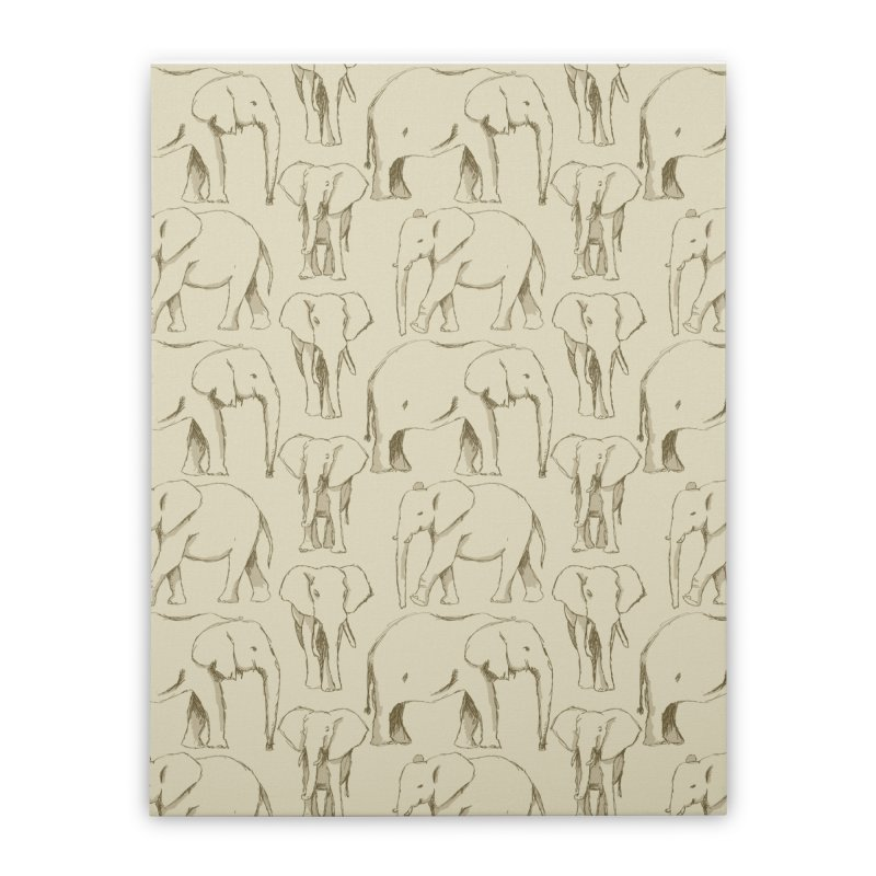 Sketch Book Elephants Home Stretched Canvas by Svaeth's Artist Shop