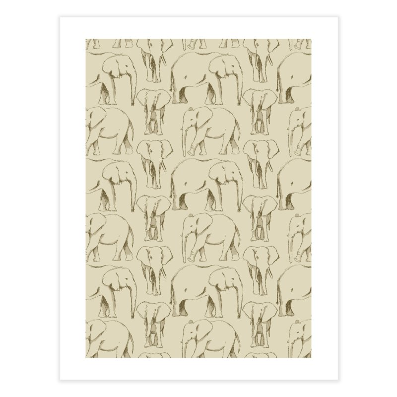 Sketch Book Elephants Home Fine Art Print by Svaeth's Artist Shop