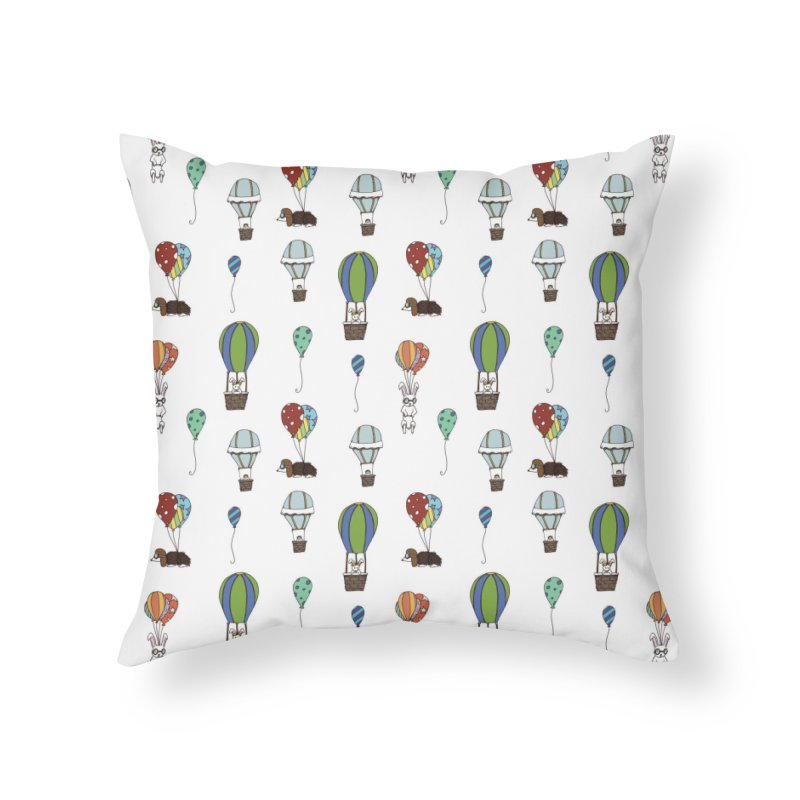 Balloon Buddies Home Throw Pillow by Svaeth's Artist Shop