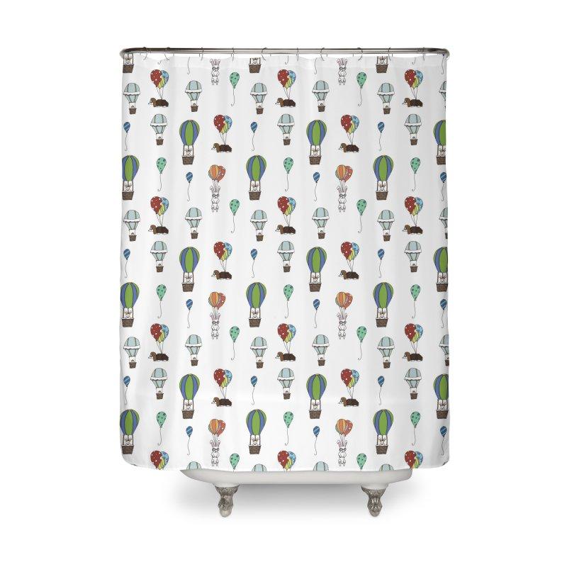 Balloon Buddies Home Shower Curtain by Svaeth's Artist Shop