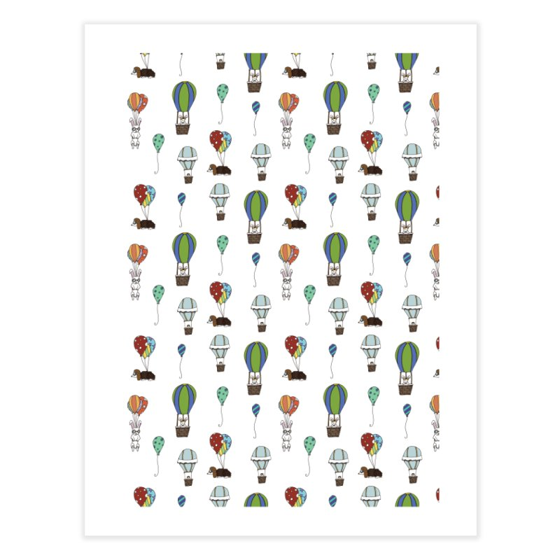 Balloon Buddies Home Fine Art Print by Svaeth's Artist Shop