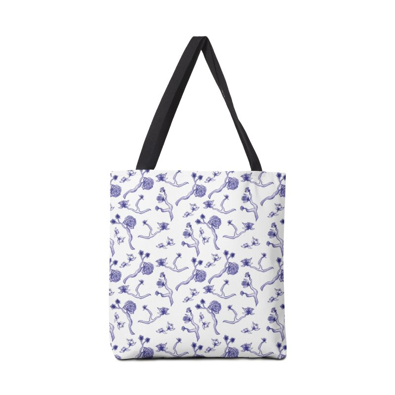 Flower Branches Accessories Bag by Svaeth's Artist Shop