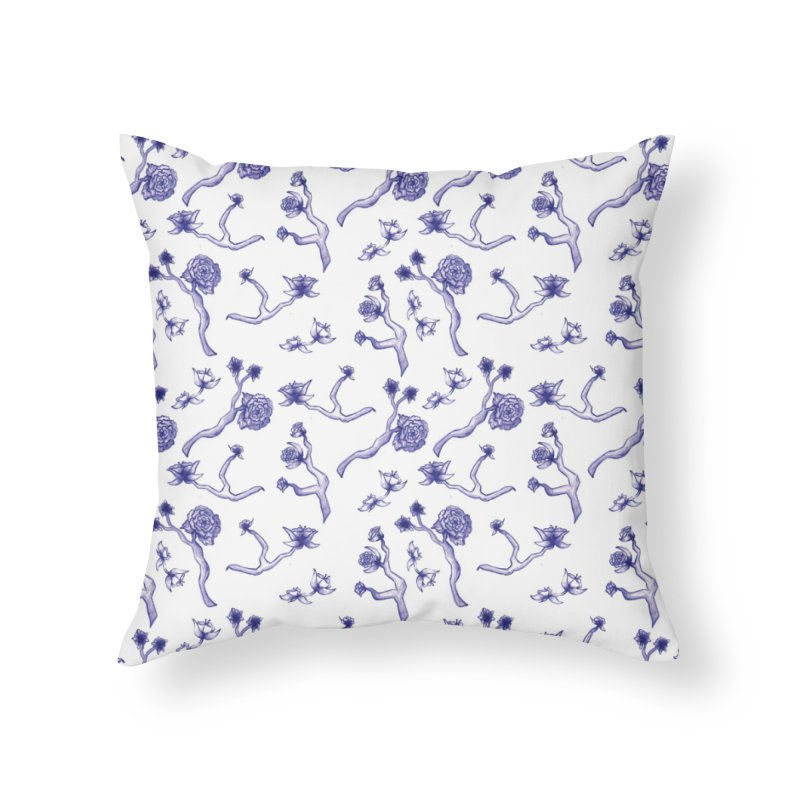 Flower Branches Home Throw Pillow by Svaeth's Artist Shop